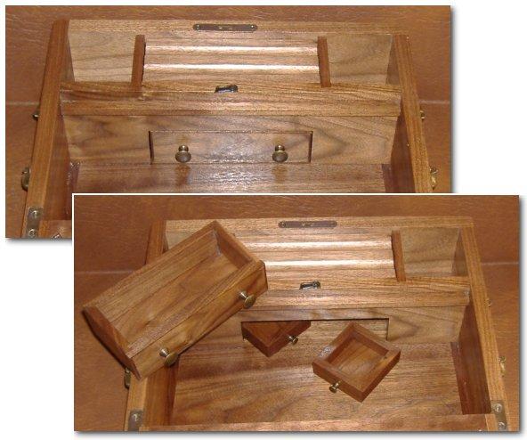Plans Desk With Secret Compartments Wood Veneer