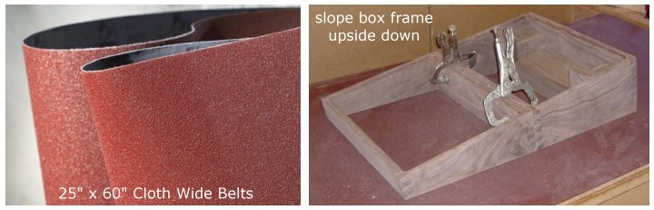 Using a sanding table to level out inside box framework