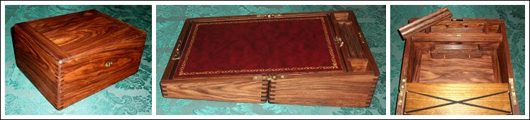 Rosewood Writing Slope with Blackberry Leather