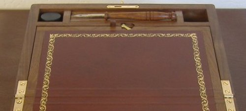 Walnut Writing Slope 6