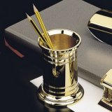 El Casco Gold Pencil Holder