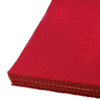 Red Adhesive Felt Sheets